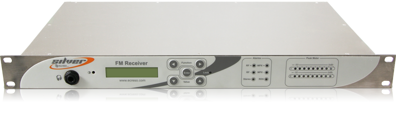 WorldCast Systems Ecreso FM Receiver Silver